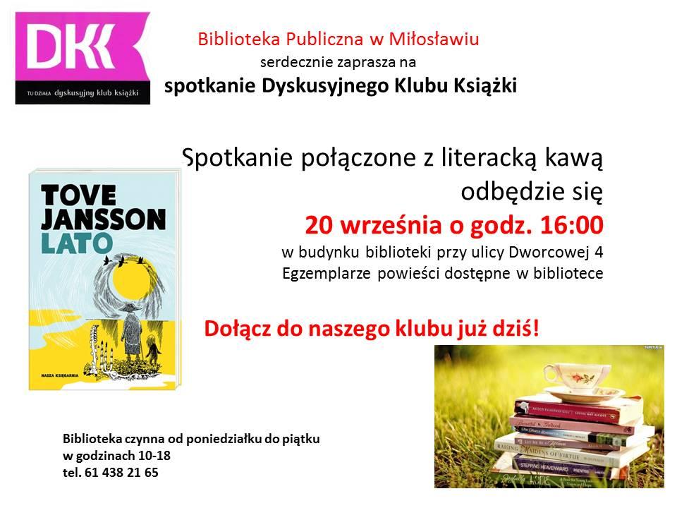 Dyskusyjny Klub Książki wrzesień