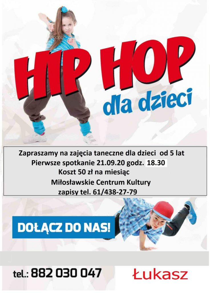 plakat o zajęciach tanecznych dla dzieci